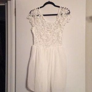 Never been worn white flower dress